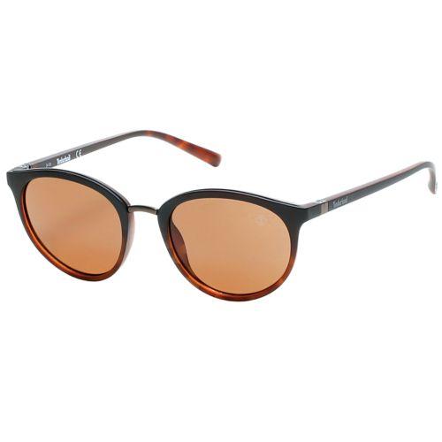 Polarized Tortoise Round Frame Sunglasses-