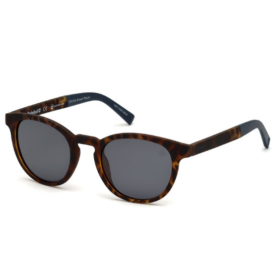 Polarized Plastic Round Frame Sunglasses