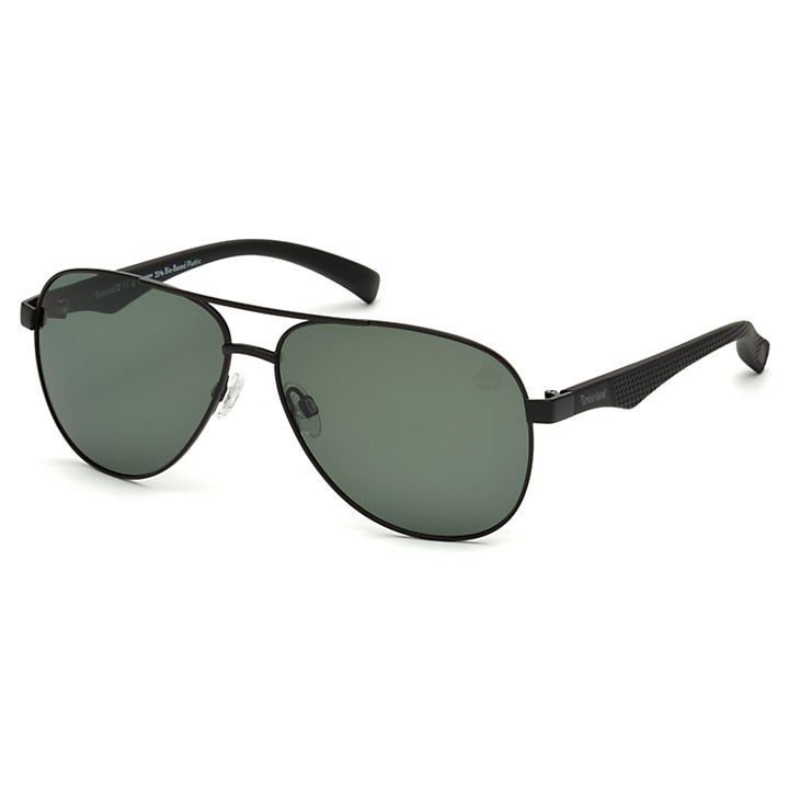 Polarized Plastic/Stainless Double-Bridge Sunglasses-