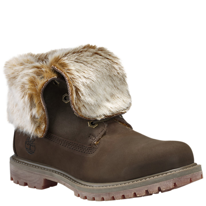 Women's Fold Fur Boots Down Faux Timberland Authentics CeWrdxBo