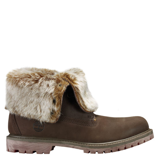 Women's Timberland Authentics Faux Fur Fold-Down Boots