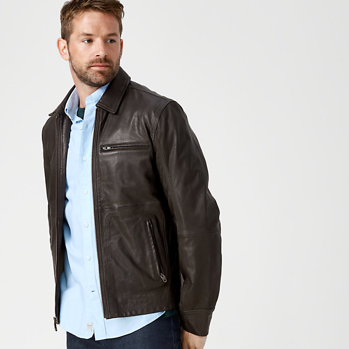 Men's Mount Major Leather Bomber Jacket-