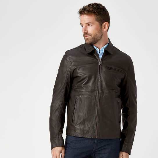 Timberland | Men's Mount Major Leather Bomber Jacket