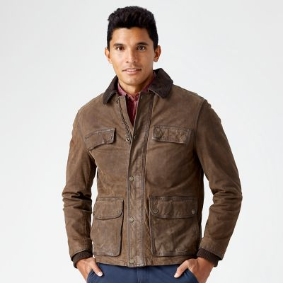Men S Tenon Leather Field Jacket Timberland Us Store