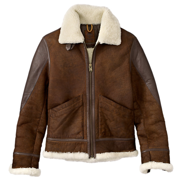 Men's Mt. Osceola Shearling Leather Flight Jacket-