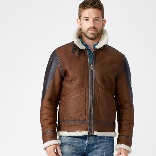 Men's Mt. Osceola Shearling Leather Flight Jacket