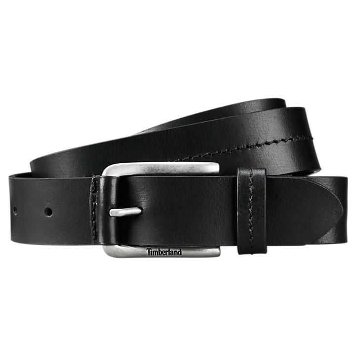 Men's Stitched Buffalo Leather Belt-