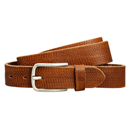 Men's Textured Buffalo Leather Belt