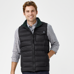 Timberland Bear Head Packable Down Men's Vest (Forest Green / Black)