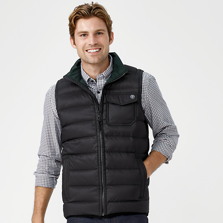 Men's Bear Head Packable Down Vest-
