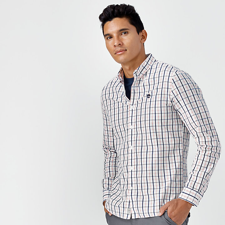 Men's Slim Fit Poplin Medium Plaid Shirt-