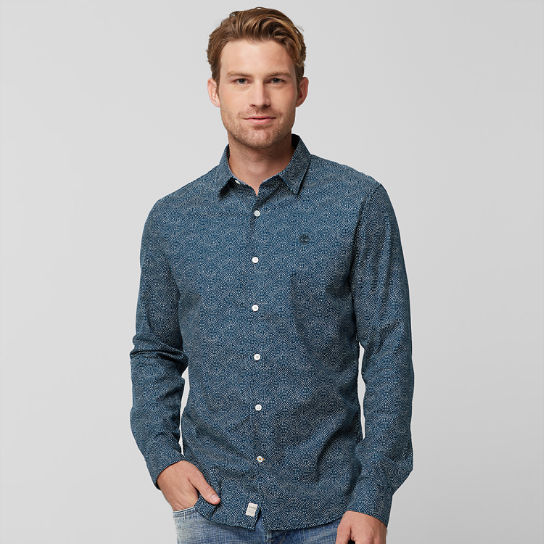 Men's Slim Fit Circle Print Shirt