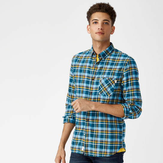 Men's Slim Fit Plaid Flannel Shirt