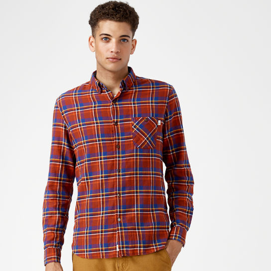 Men 39 s slim fit plaid flannel shirt timberland us store for Mens slim fit flannel shirt