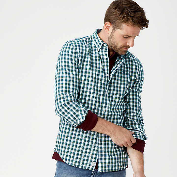 Men's Slim Fit Plaid Oxford Shirt-