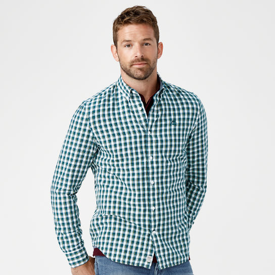 Men's Slim Fit Plaid Oxford Shirt