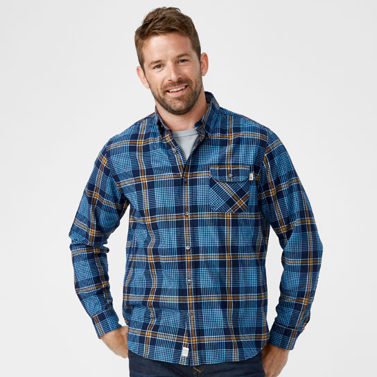 Men's Essential Twill Plaid Shirt