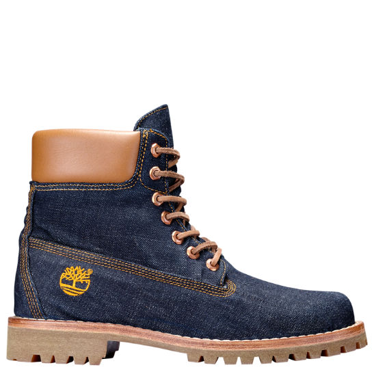 Buy Designer Men Timberland Classic 6 Inch Denim Premuim Boots Factory Price