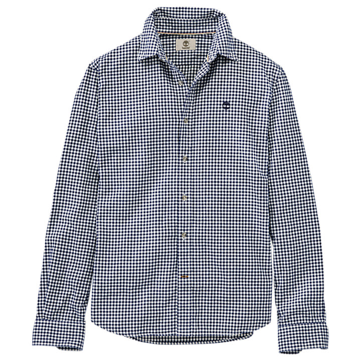 Men's Slim Fit Brushed Twill Gingham Shirt-