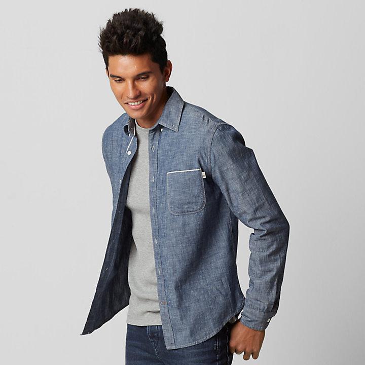 Men's Slim Fit Chambray Shirt-