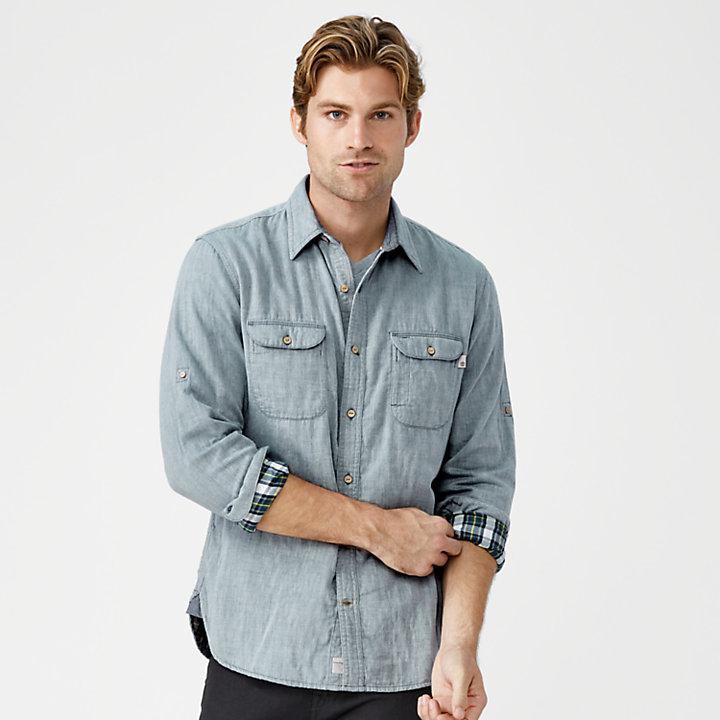 4860d55671a7 Men's Slim Fit Double-Layer Roll-Tab Shirt | Timberland US Store