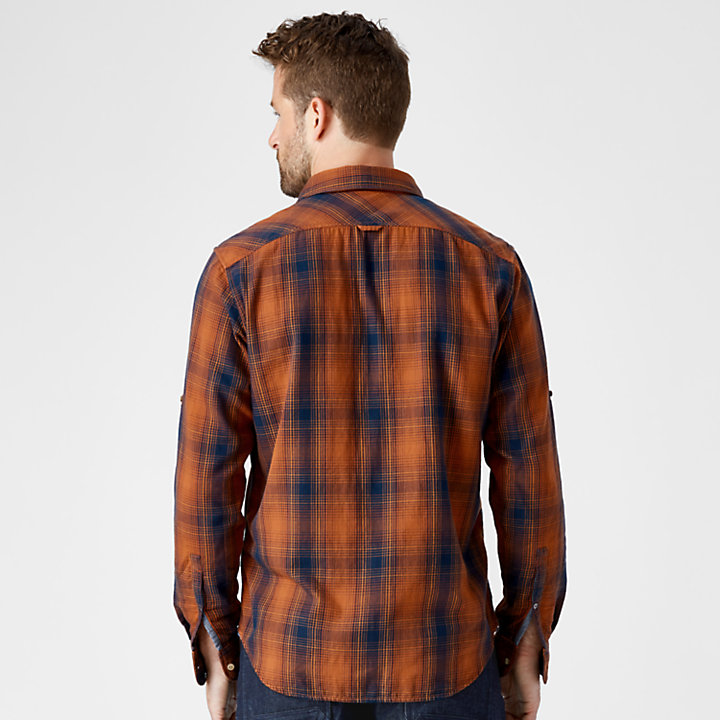 Men's Double-Layer Roll-Tab Plaid Shirt-