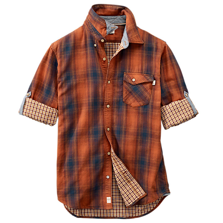 Men's Double-Layer Roll-Tab Plaid Shirt-