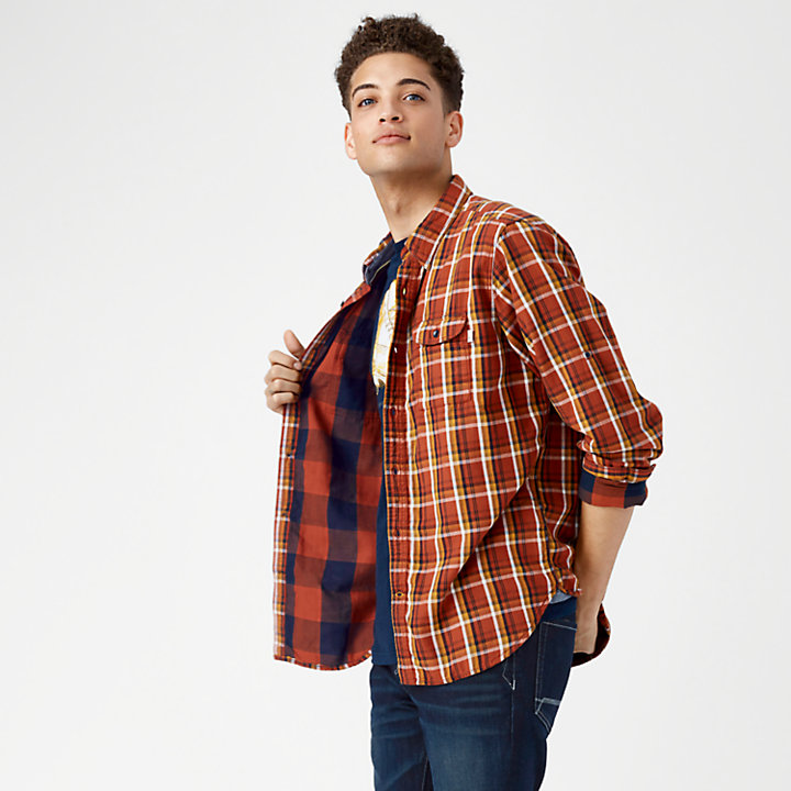Men's Essential Double-Layer Plaid Shirt-