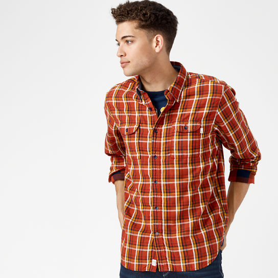 Men's Essential Double-Layer Plaid Shirt