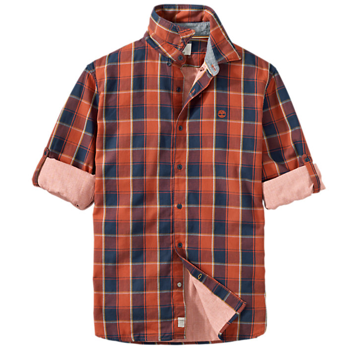 Men's Slim Fit Double-Layer Plaid Shirt-