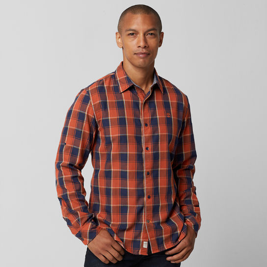 Men's Slim Fit Double-Layer Plaid Shirt
