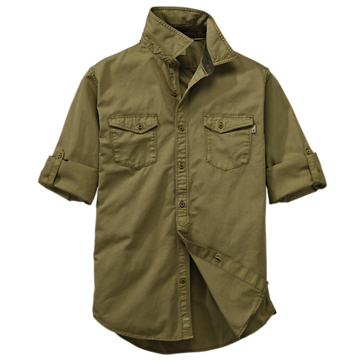 Men's Twill Roll-Tab Cargo Shirt-