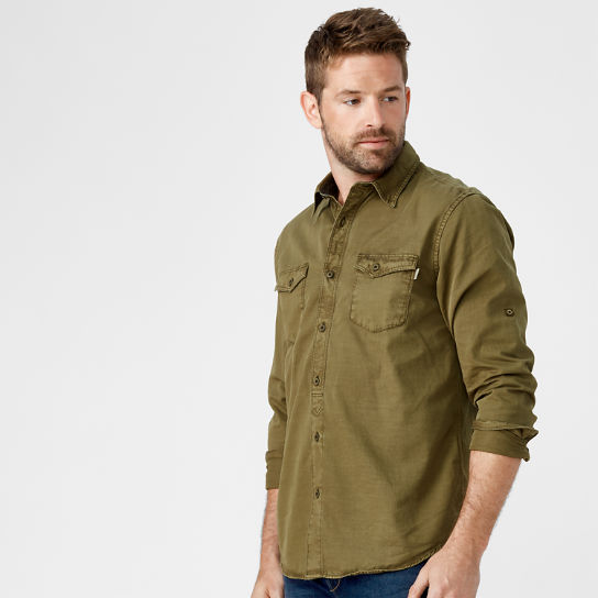 Men's Twill Roll-Tab Cargo Shirt