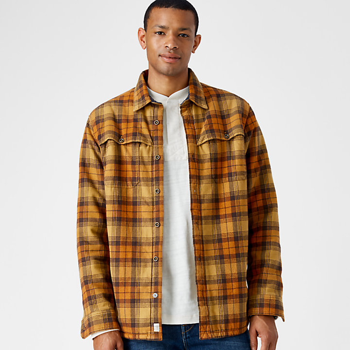 Men's Fleece-Lined Flannel Shirt-