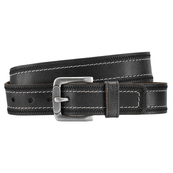 Men's Double-Stitch Leather Belt-