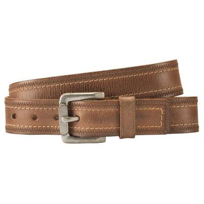 Men's Double-Stitch Leather Belt