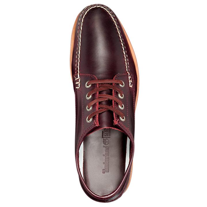 Men/'s Timberland Tidelands Range Moc Shoes Leather A1BHB601 Dark Burgundy