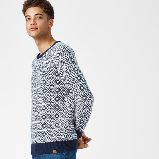 Men's Simms River Fairisle Crew Neck Sweater