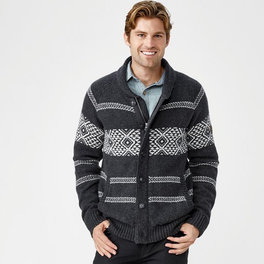 Men's Simms River Fairisle Cardigan Sweater