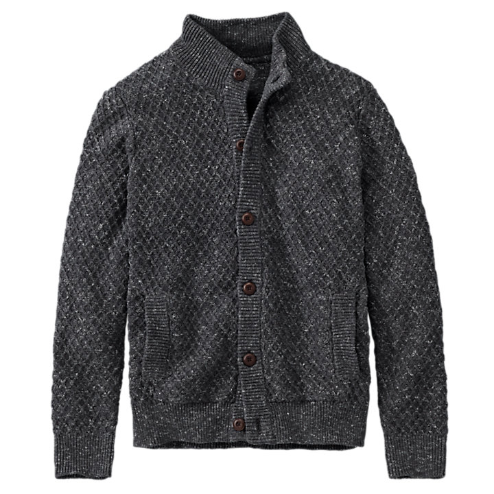 Men's Williams River Textured Cardigan Sweater-