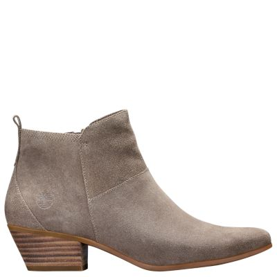 Women S Carleton Side Zip Suede Ankle Boots Timberland