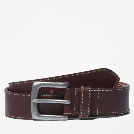 "Men/'s Burgundy Belt 100/% Genuine Leather Fashion Casual belts for Man Size 34/"""