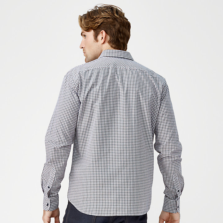 Men's Slim Fit Check Poplin Shirt-