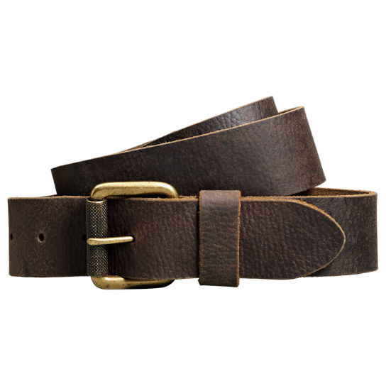 Men's Milled Buffalo Leather Belt