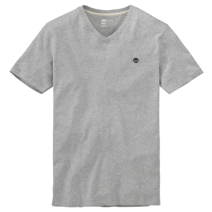 Men's Dunstan River Slim Fit V-Neck Logo T-Shirt-