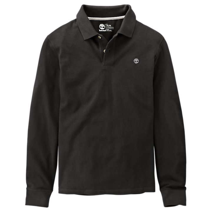 Men's Millers River Slim Fit Long Sleeve Polo Shirt-
