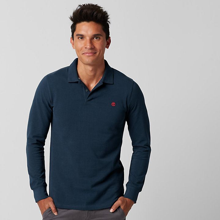 ace803e4c Men's Millers River Slim Fit Long Sleeve Polo Shirt   Timberland US ...