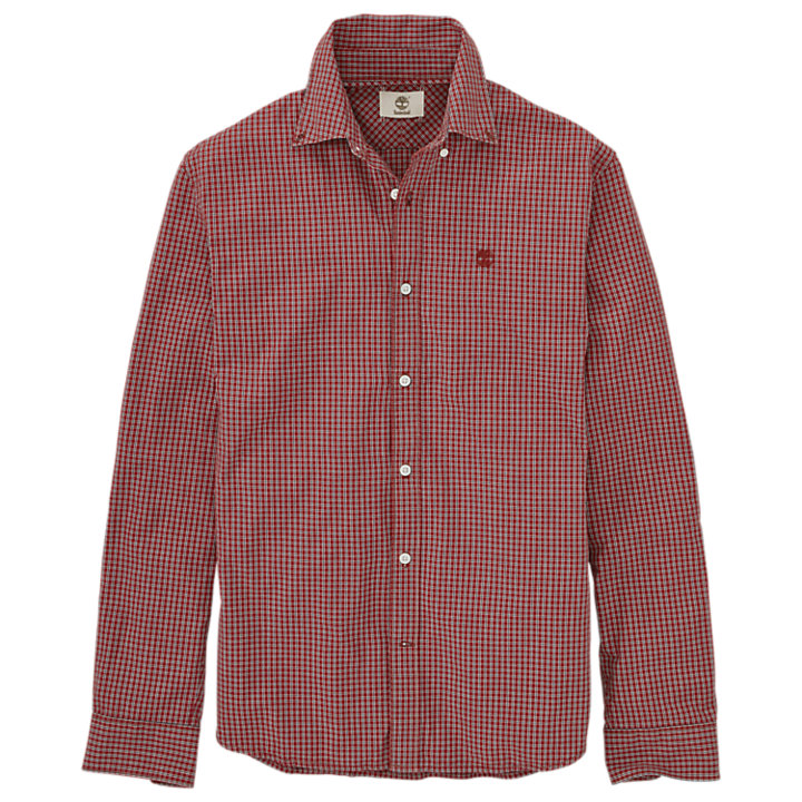 Men's Slim Fit Check Poplin Shirt-