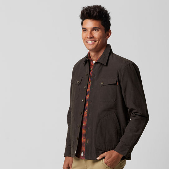 Men's Bass River Waxed Canvas Shirt Jacket