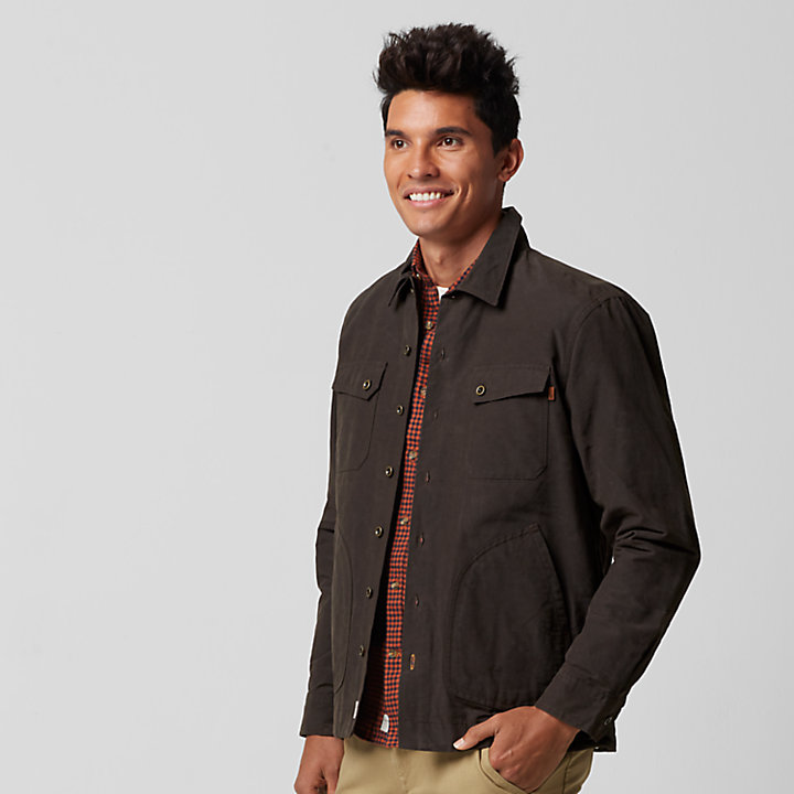 Men's Bass River Waxed Canvas Shirt Jacket-